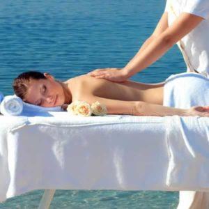Woman having a massage on the Gold Coast