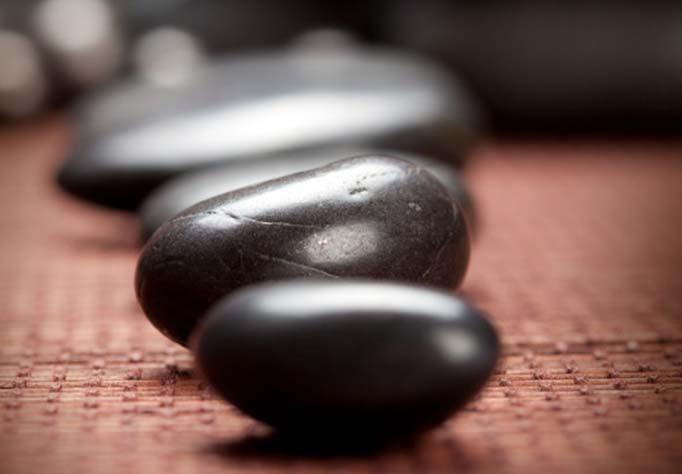 Hot rocks used in stone massage