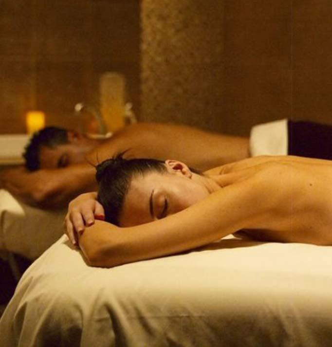 Two massage clients having a massage