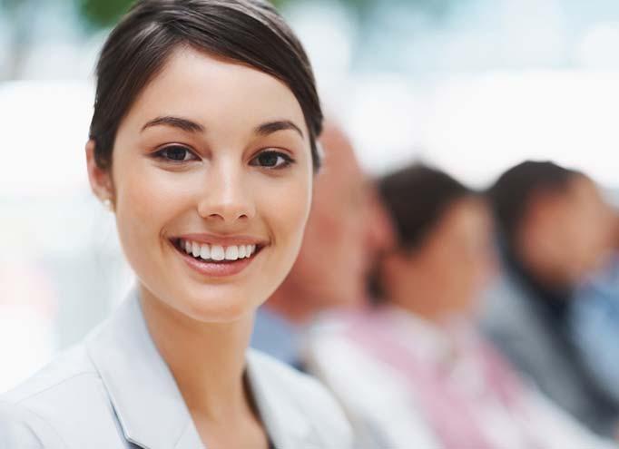 Smilng woman at work