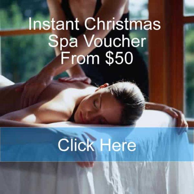 Christmas Present Massage Voucher Day Spa