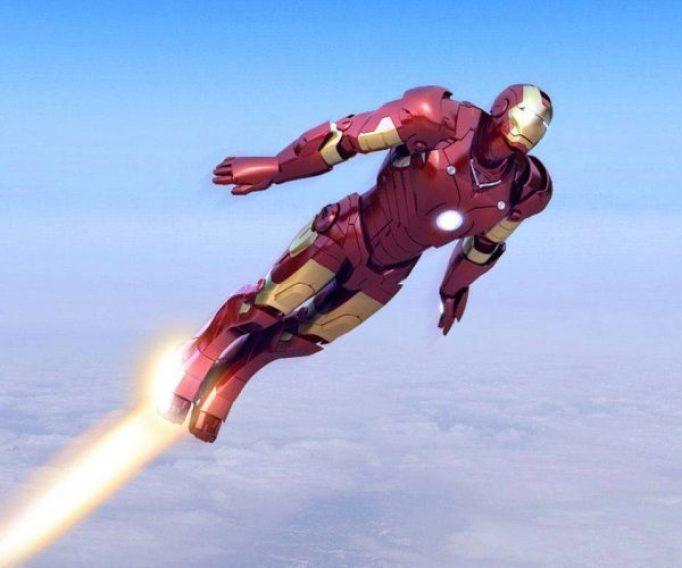 Ironman flying through the air