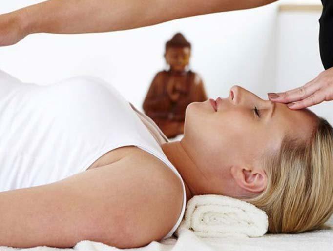 Pregnant women having a massage