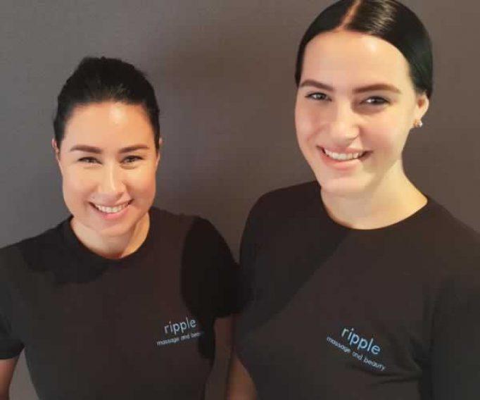 Two Ripple sports massage therapists